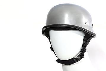 German Silber Stahl Helm Chopper Harley Biker