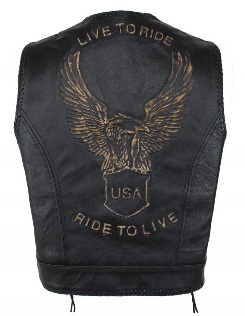 Bon Ride To Live Lederweste mit Seiten Schnür