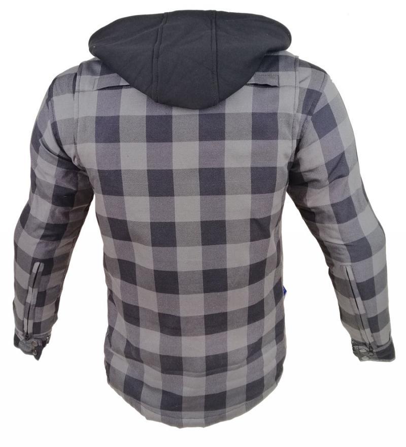 Motorrad- und Flanell-Holzfällerhemd mit KEVLAR® ARAMID Lumber Biker Jacke Hemd