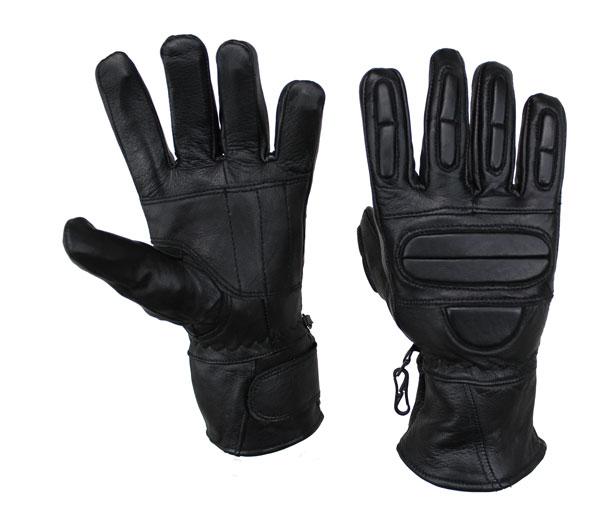 Motorrad und Biker Lammleder Handschuhe Schwarz