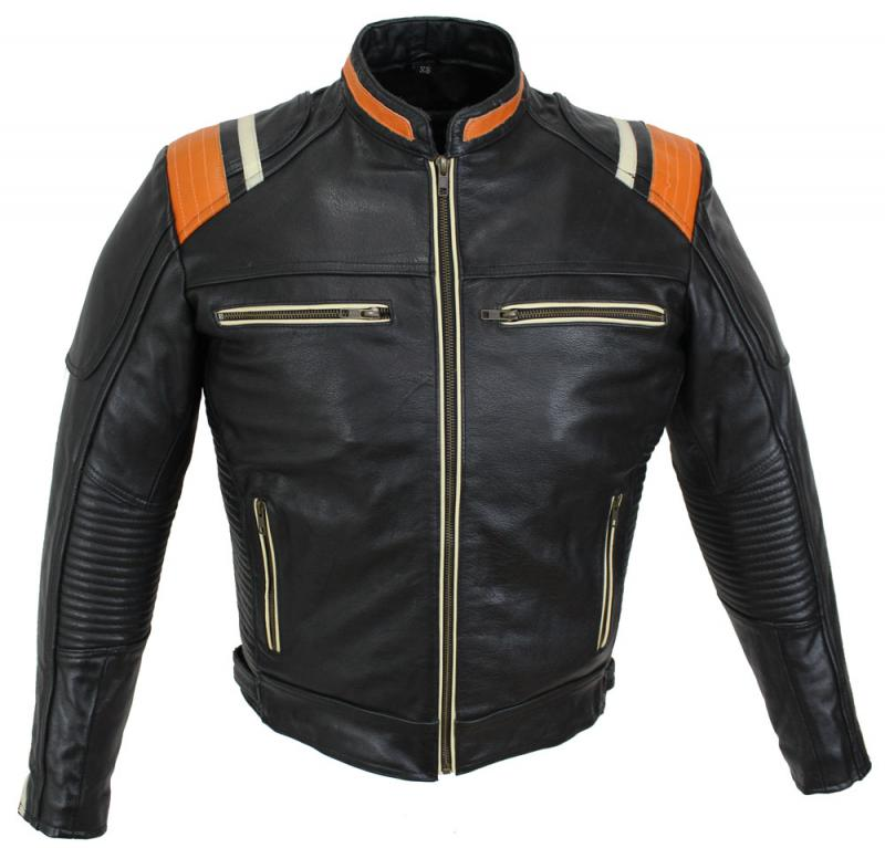 Motorrad Custom Leder Jacke Biker Jacke Galway Schwarz