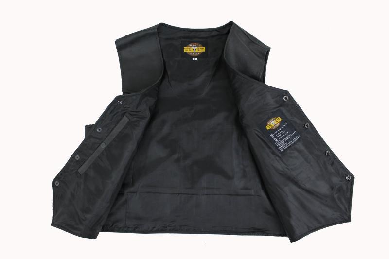 Button Lederweste mit Waffetasche