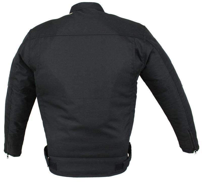 Motorrad Highway Textil Jacke Schwarz