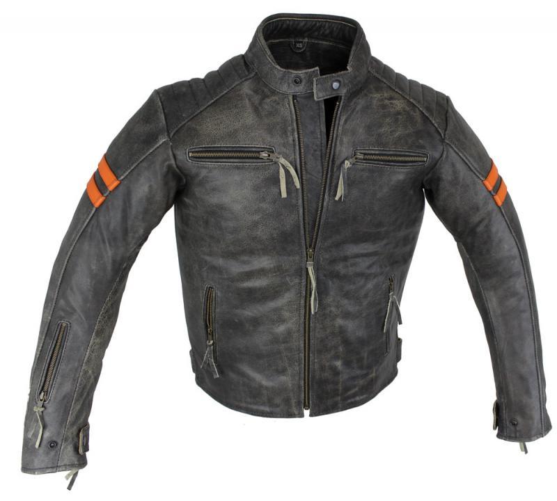 Motorrad Retro Rind Leder Jacke Braun