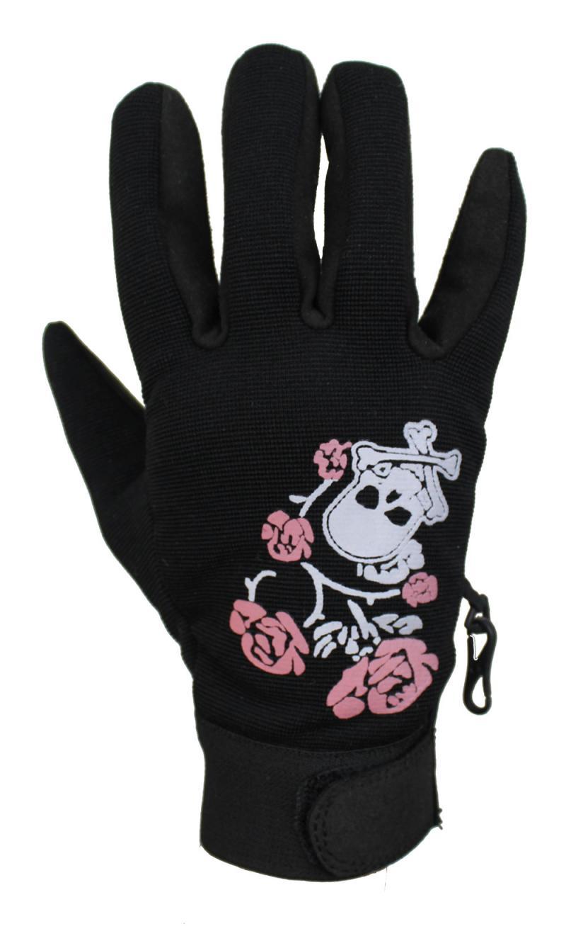 Pink Rose Neopren Handschuhe Motorrad und Freizeit