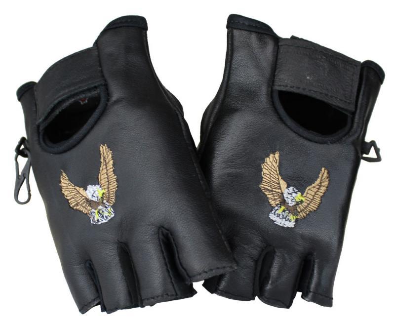 Halbfinger Adler Lammleder Handschuhe