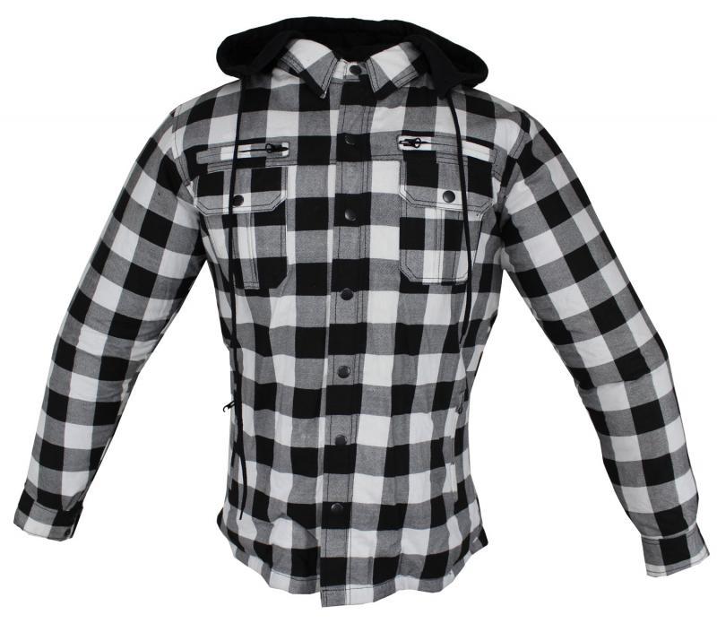 Motorrad- und Flanell-Holzfällerhemd mit KEV ARAMID Lumber Biker Jacke Hemd