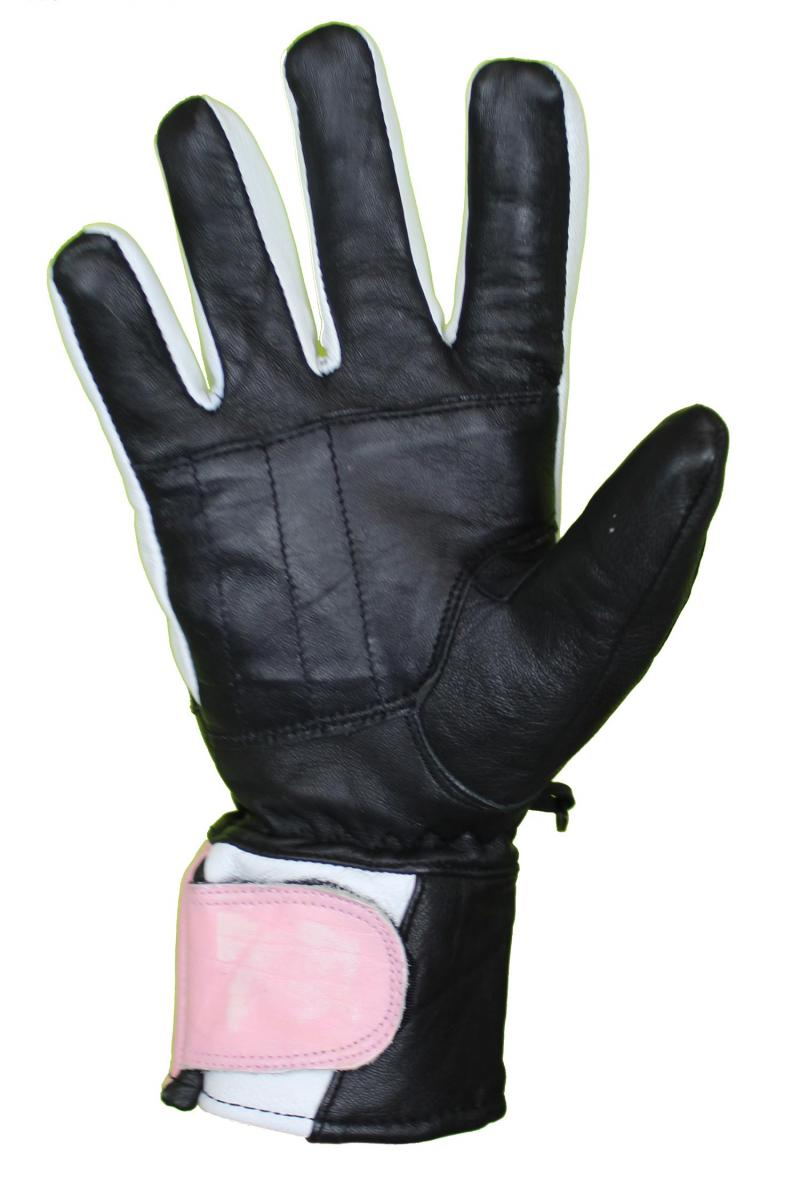 Motorrad und Biker Lammleder Handschuhe Rosa