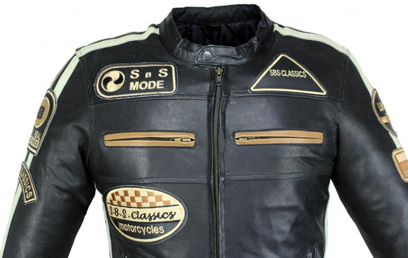 Highway Motorrad Lamm Leder Jacke Schwarz