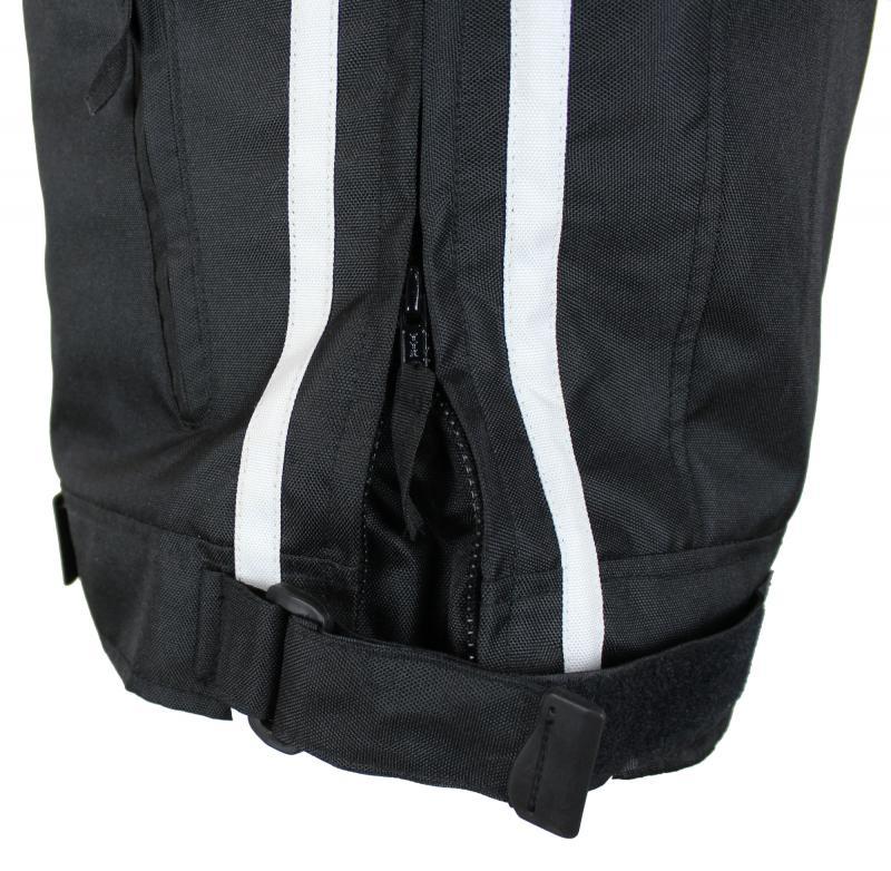 Motorrad Highway Textil Biker Jacke Schwarz Weiß