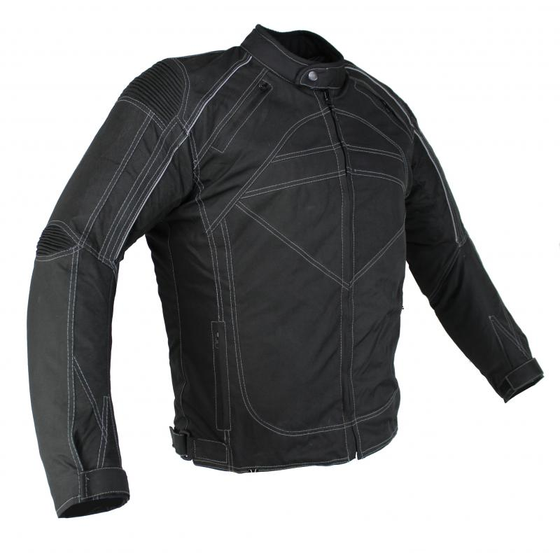 Motorrad und Freizeit Textil Jacke Schwarz