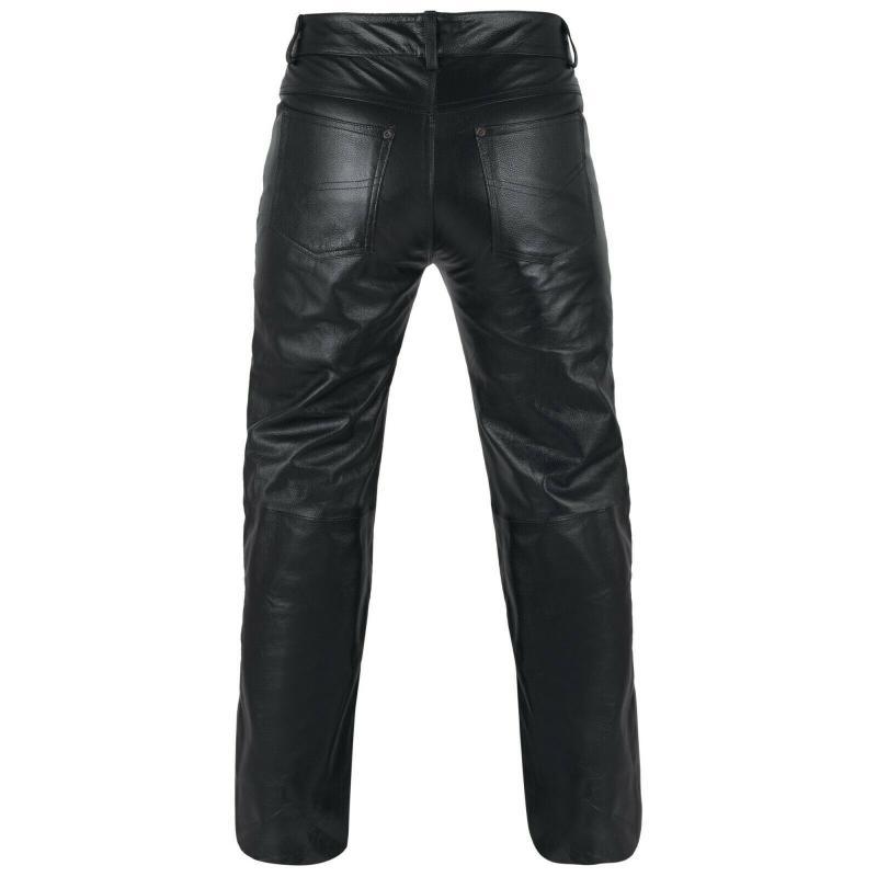 Lederhose Jeans Bikerhose Motorradhose Schwarz