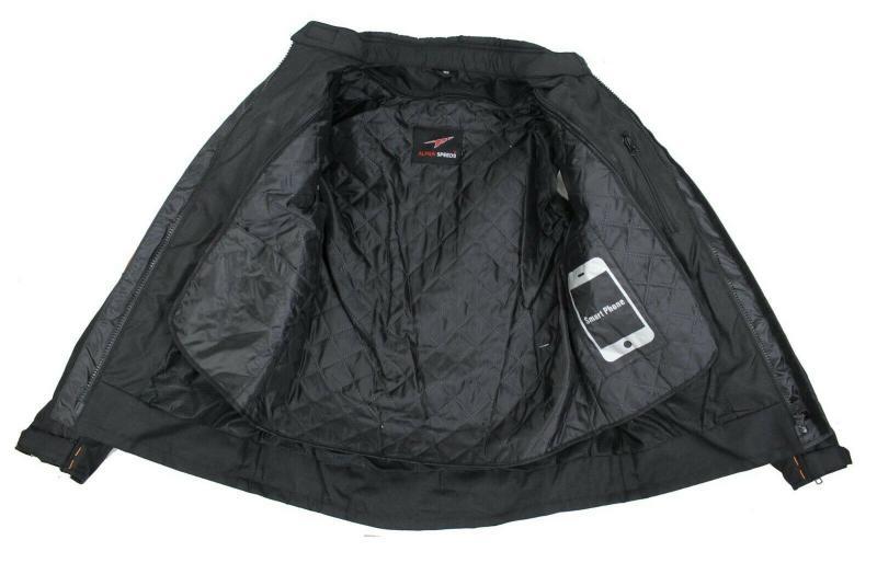 Herren Motorradjacke Textil Jacke Bikerjacke Polyester Sport Touring Jacke Protektoren
