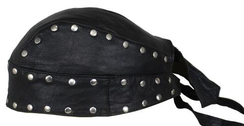 Motorrad Rocker Biker Leder Kopftuch, Bandana  Headwrap